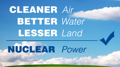 Nulcear power is clean energy resource